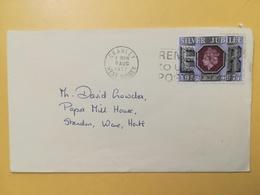 1977 BUSTA GRAN BRETAGNA GREAT BRITAIN BOLLO GIUBILEO ELISABETTA JUBILEE ANNULLO CRAWLEY OBLITERE' ETICHETTA - 1952-.... (Elisabetta II)
