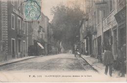 CPA Saint-Affrique - Avenue De La Gare (avec Animation) - Saint Affrique