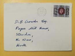 1977 BUSTA GRAN BRETAGNA GREAT BRITAIN BOLLO GIUBILEO ELISABETTA JUBILEE ANNULLO DERBY OBLITERE' - 1952-.... (Elisabetta II)