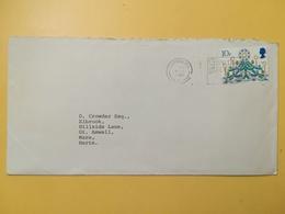 1980 BUSTA GRAN BRETAGNA GREAT BRITAIN BOLLO NATALE CHRISTMAS ANNULLO LONDON OBLITERE' ETICHETTA - 1952-.... (Elisabetta II)