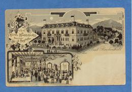 9575 Germany Bavaria Bad Reichenhall Gruss Vom Hotel Habsburg Litho (damaged Pc!) - Bad Reichenhall
