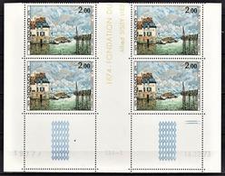 MONACO 1974 - BLOC DE 4 TP / N° 972 - COIN DE FEUILLE / DATE / NEUFS** - Monaco