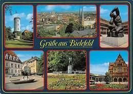 Germany Gruesse Aus Bielefeld, General View Church Tower Turm Park Statue - Deutschland