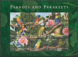 Grenada-Grenadinen 2000 Papageien Sittiche Kleinbogen 3053/61 K Postfr.(C94479) - Grenada (1974-...)