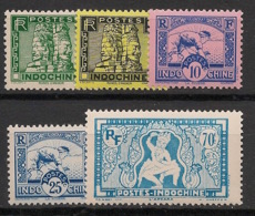 Indochine - 1941 - N°Yv. 214 à 218 - Série Complète - Neuf Luxe ** / MNH / Postfrisch - Indochina (1889-1945)
