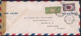 USA - 1944 - Letter - Censored -> Venezuela - United States