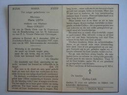 Doodsprentje Maria Loth Kerniel 1854 Rekem 1957 Lid Derde Orde Wed Henri Colley - Devotieprenten
