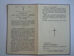Doodsprentje Anna Maria Catharina Moonen Molenbeersel 1920 Leut Ziekenhuis 1959 Echtg Frans Peels - Devotion Images
