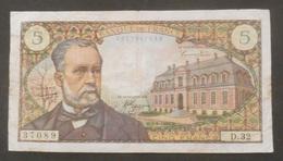 BILLET  FRANCE  Francs De 1966  -   TTB Fin  -  Pas De Trou Central Ni De Trou D'épingle   / PASTEUR - 1962-1997 ''Francs''