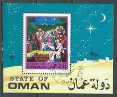 Oman Bloc-feuillet 1970 Noel Oblitéré ° - Oman