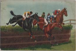 Cartoilina Con Cavalli Al Galoppo. Formato Piccolo Non Viaggiata - Cavalli