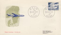 Enveloppe  FDC  1er  Jour    NORVEGE   10éme   Anniversaire  De   SCANDINAVIAN   AIRLINES   1961 - FDC
