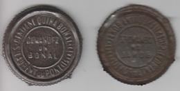 BONAL ,plaque Mètallique Pour Marquage Des Caisses D'expédition. - Alcohols