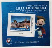 "Mini Collector De 2016 Avec Timbre Adhésif ""LILLE METROPOLE - UEFA EURO 2016 - France"