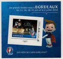 """Mini Collector De 2016 Avec Timbre Adhésif """"BORDEAUX - UEFA EURO 2016 - France"""
