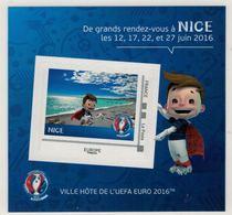 "Mini Collector De 2016 Avec Timbre Adhésif ""NICE - UEFA EURO 2016 - France"