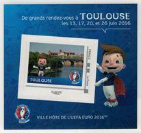 "Mini Collector De 2016 Avec Timbre Adhésif ""TOULOUSE - UEFA EURO 2016 - France"