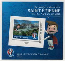 """Mini Collector De 2016 Avec Timbre Adhésif """"SAINT-ETIENNE - UEFA EURO 2016 - France"""