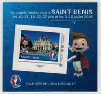 "Mini Collector De 2016 Avec Timbre Adhésif ""SAINT-DENIS - UEFA EURO 2016 - France"