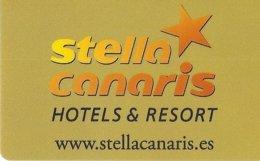 Stella-Canaris-Hotels---Resort[2498]----key Card, Room Key, Schlusselkarte, Hotelkarte - Hotelkarten