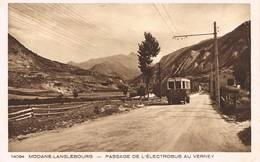 Le Verney ( Savoie ) - Passage De L'électrobus - Route Modane - Lanslebourg - France
