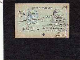 Cachet 10è Région  HOPITAL COMPLEMENTAIRE N° 101 (?) - PERROS GUIREC Sur CPA TRESTAOU En PERROS GUIREC - Marcophilie (Lettres)