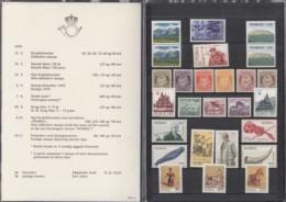 NORWEGEN  Jahrbuch 1978, Postfrisch **, Mit 758-774, 763-789 In Präsentationsfaltblatt - Norwegen