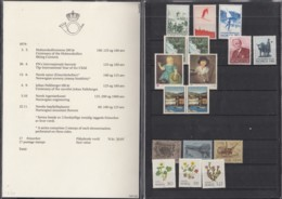 NORWEGEN  Jahrbuch 1979, Postfrisch **, Mit 790-798, 803-808 In Präsentationsfaltblatt - Norwegen