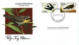 FDC GRENADA GRENADINES; Birds  /  Oiseaux, GRENADE GRENADINES; Lettre De Première Jour,  GEOTHYLPIS TRICHAS - Vögel