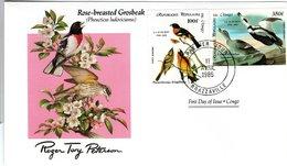 FDC CONGO, Birds  /  Oiseaux, CONGO; Lettre De Première Jour,  PHEUCTICUS LUDOVICIANUS - Vögel