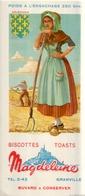 Ancien Buvard Publicitaire BISCOTTES MAGDELEINE ORLEANAIS - Zwieback