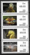 Irlande 2012 Distributeur N° 33/36 Animaux Marins - Franking Labels