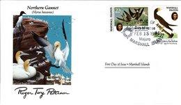 FDC MARSHALL ISLANDS, Birds  /  Oiseaux, ÎLE MARSHALL; Lettre De Première Jour, MORUS BASSANUS - Vögel