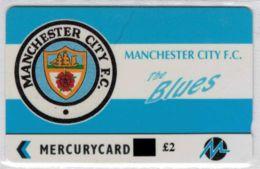 Mercury - PYF032A, GPT Manchester City Logo Overprint, %546 Ex - TBE - Voir Scans - Reino Unido