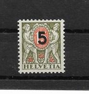 SUISSE TAXE 1937   YT N° 63* Neuf Sans Charnière 2ème Choix Infime Trace Noire Au Verso !! - Taxe