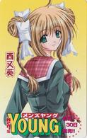 Télécarte Japon / 110-016 - MANGA - YOUNG MEN'S MAGAZINE - ANIME Japan Phonecard - 11787 - Comics