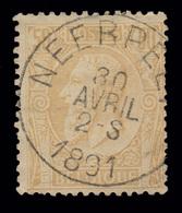 "COB N° 50 - Oblitération ""CONCOURS"" - NEERPELT - 1884-1891 Leopold II."