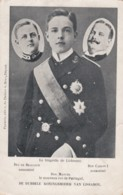 Portugal Royalty, Assassination Don Carlos I And Son Duc De Bragance, New King Manuel II, C1900s Vintage Postcard - Königshäuser