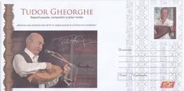 Romania , Roumanie  , 2018 , Tudor Gheorghe ,  Singer , Musice , Actor ,Cobza , Musical Instrument , Pre-paid Envelope - Postwaardestukken