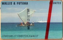 Wallis And Futuna - WF-SPT-0013A, Tourism Et Tradition à Wallis, Red Control Number., 25 U, 600ex, 3/98, Mint NSB - Wallis Und Futuna