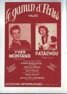 Partition Ancienne Valse Le Gamin De Paris - Yves Montand Et Patachou - Música & Instrumentos