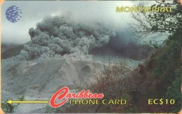Montserrat - MON-124A, GPT, 124CMTA, Tar River Valley, Montserrat Volcano 2/1996,  Volcanos, 10 EC$, 5.000ex. 1996, Used - Montserrat