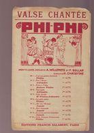Partition Ancienne Phi Phi Valse Chantée - Editions Salabert - Música & Instrumentos