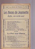 Partition :Les Noces De Jeannette - - Air De Jean - /Les Echos Du Theatre 146 - Música & Instrumentos