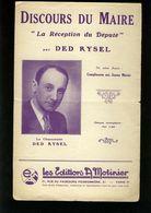 Partition Ancienne - Le Discours Du Maire - Ded Rysel - La Reception Du Deputé - Liederbücher
