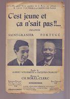 """Partition Ancienne """" C'est Jeune Et Ca Ne Sait Pas """" - Liederbücher"""