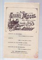 Livret Partitions - Le Grand Mogol - Liederbücher