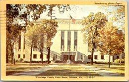 Wisconsin Oshkosh Winnebago County Court House 1950 Dexter Press - Oshkosh