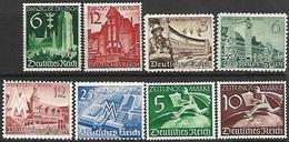 Germany  1939-40   Sc#492-7 & #P1-2    MH   2016 Scott Value $4.75 - Nuevos