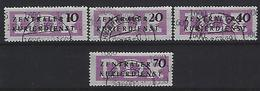 Germany (DDR) 1957 Dienstmarken Fur Den ZKD (o) Mi.10-13 - [6] Democratic Republic